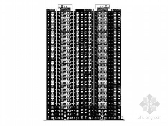 [河北]高层一类剪力墙结构塔式住宅楼建筑施工图(含人防工程)