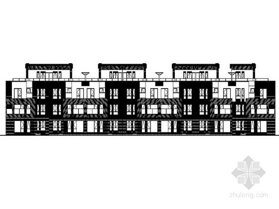 [天津]某三层联排别墅建筑施工套图