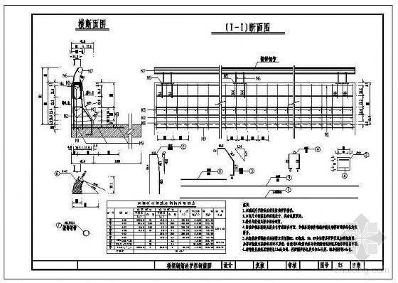 桥梁标准防撞栏杆钢筋节点构造详图