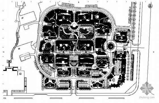 烟台小区景观施工图总图部分