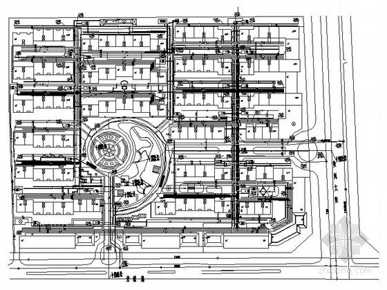 河南某小区住宅综合管网方案图