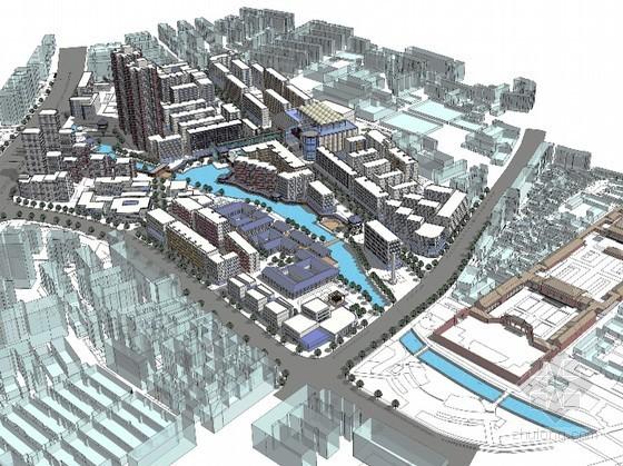 城市规划商业街设计获奖作品之一等奖-古往今来