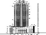 90米高商住大厦建筑图(全套图纸)