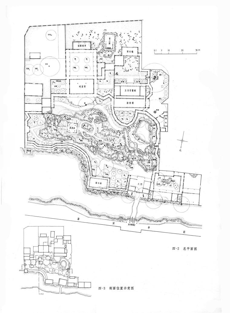 中国传统古典园林平面-拙政园,怡园,沧浪亭,留园,狮子林CAD平面图