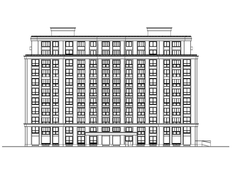 [浙江]杭州商品住宅区建筑施工图设计(CAD)