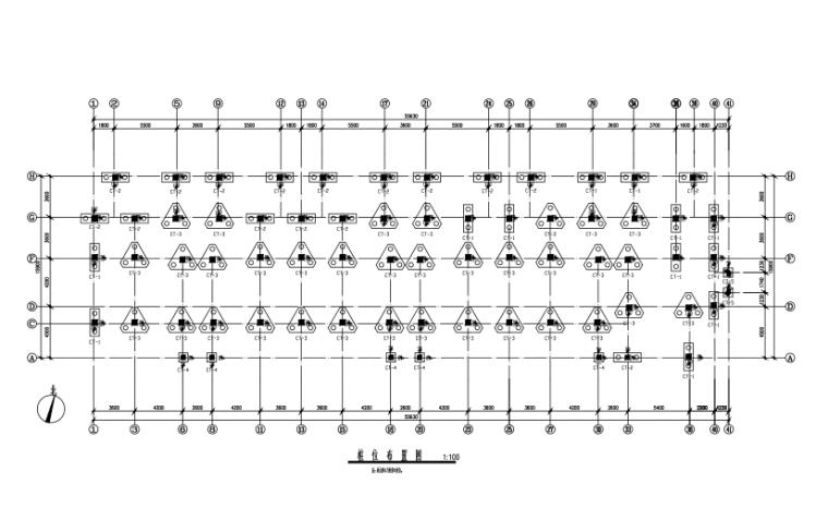 6层框架结构住宅楼结构施工图(CAD、17张)