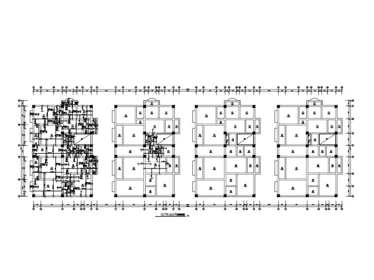 沿街商业楼全套建筑结构施工图