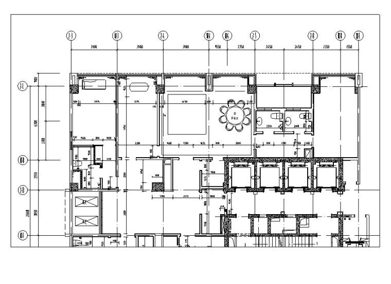 世代锦江国际酒店贵宾楼设计施工图(附效果图)-墙身尺寸图