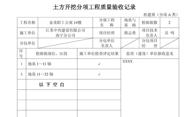 全套竣工资料表格填写及编制范例