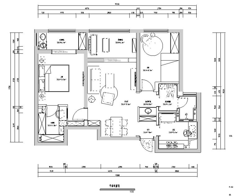 紫嫣默然|绿地金融城住宅设计施工图(附效果图)