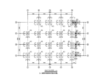 二层门式钢架自行车车棚建筑结构施工图(CAD、20张)
