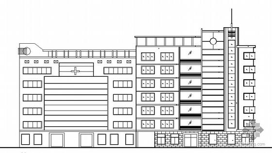 某七层医院住院部建筑设计方案图