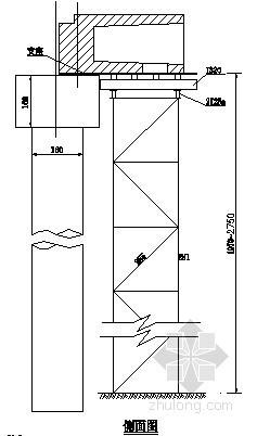 边跨箱梁现浇段支架拼装图
