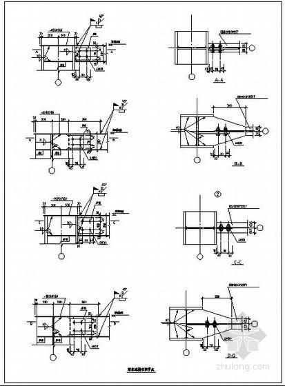 某钢框架梁柱连接柱顶节点构造详图