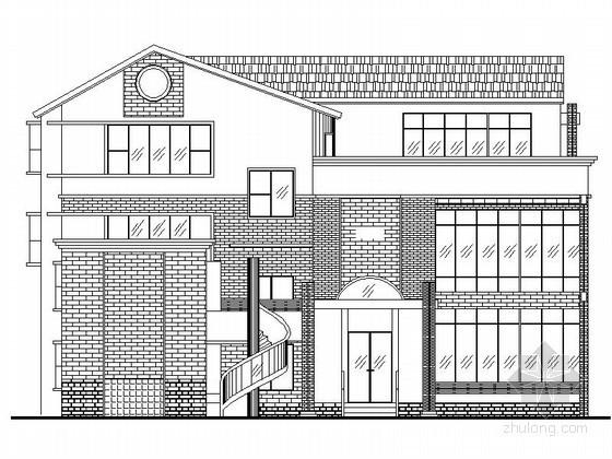 某三层现代中式别墅建筑施工图