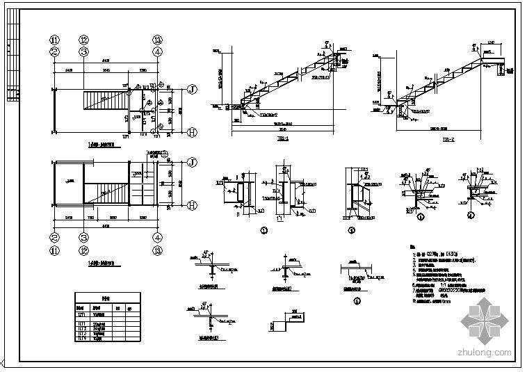某钢楼梯节点构造详图(2)
