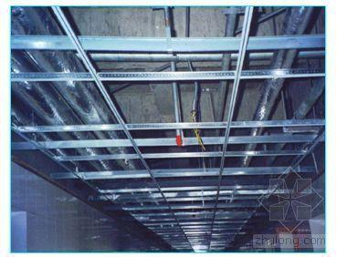 某工程吊顶施工工艺(钢龙骨石膏板、木龙骨)