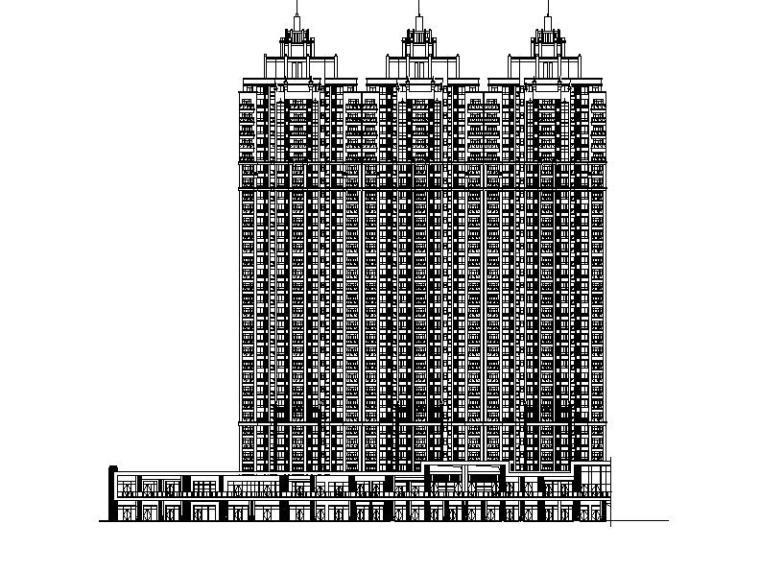 [广州]高层框支剪力墙结构塔式住宅楼建筑施工图