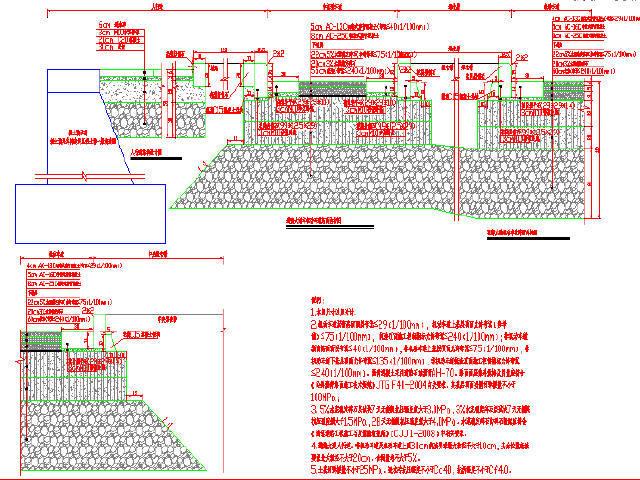 温州市50m宽市政道路工程设计图纸115张CAD(含清单与计价表)