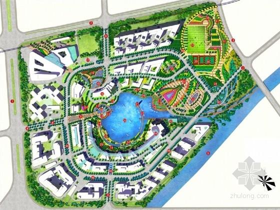 [上海]环湖生态办公区环境景观绿化设计方案