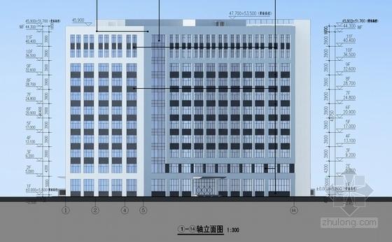 [厦门]现代风格材料研究所建筑设计方案文本(2015年含CAD)-现代风格材料研究所立面图