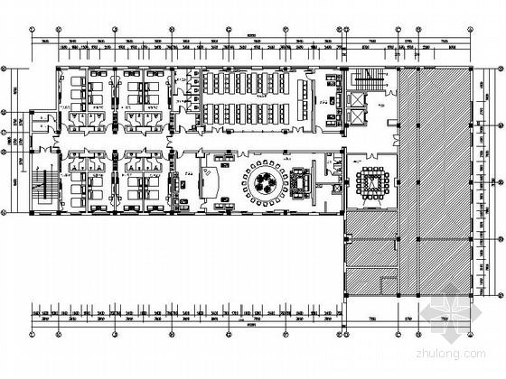 [吉林]市级税务行政单位现代酒店装修施工图