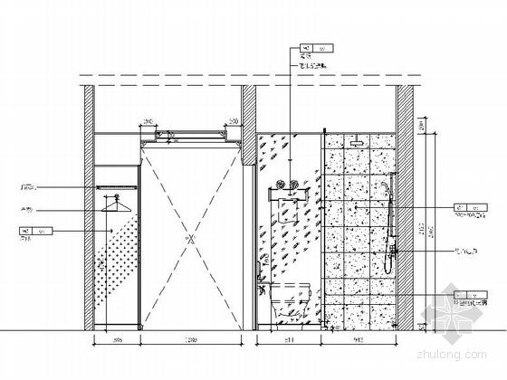 原创]时尚现代商务酒店客房部分装修图(含效果图) 立面图