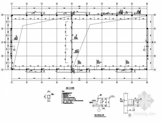 [福建]24米跨钢筋混凝土柱钢梁门式钢架单层厂房(2栋)