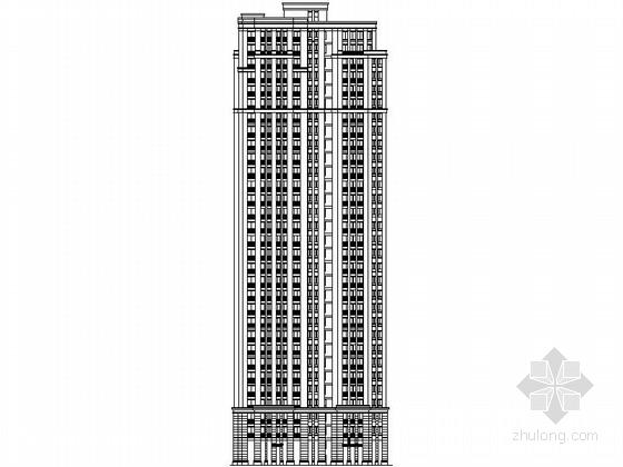 [常州]某小区高层住宅楼建筑施工图(含效果图)