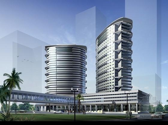 [深圳]25层现代风格国际星级酒店建筑设计方案文本(含详细CAD)