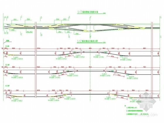 分离式立交桥连续箱梁钢束构造图