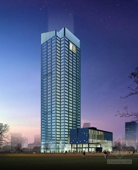 [江苏]37层框筒结构国际贸易中心结构施工图(含裙房、地下室)