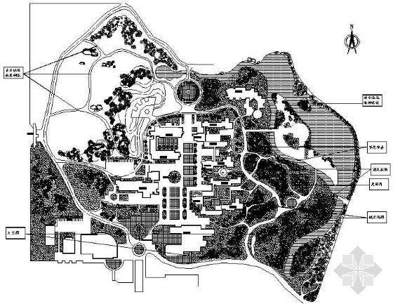 某中学校园环境景观设计图