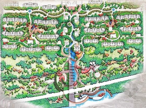 住宅区景观方案设计总平面图