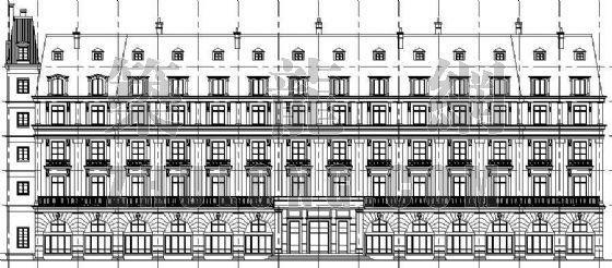 某欧式旅馆建筑设计方案