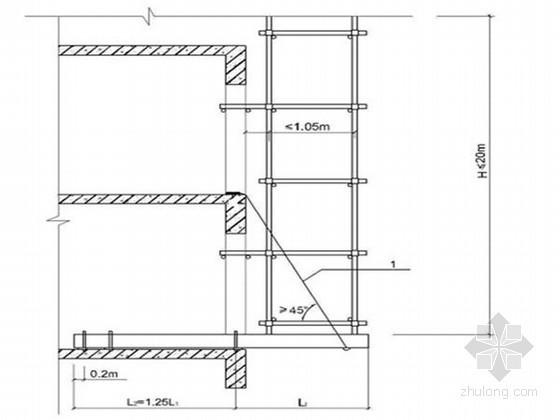 [河北]框架结构商业综合体工程悬挑脚手架施工方案