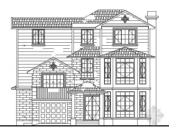 上海某三层小别墅建筑结构方案图