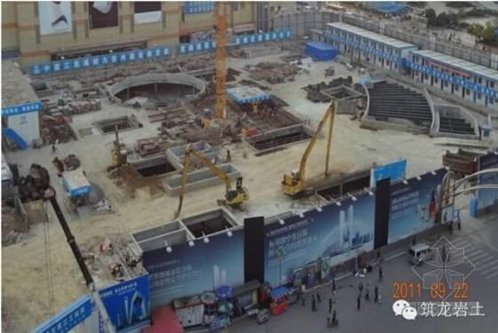 22米深基坑逆作法施工土方开挖施工实录