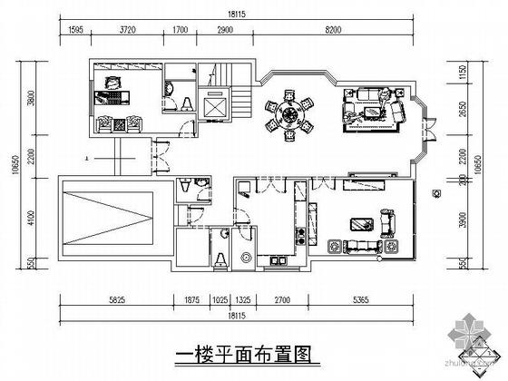 [重庆]三层欧式豪园别墅G9户型施工图
