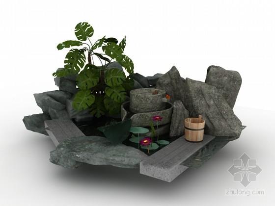 园林小品3d模型下载