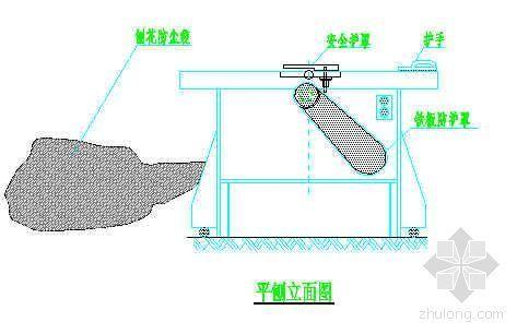 平刨安全防护立面图及平面图