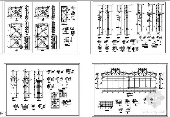 某混凝土厂房支撑柱子节点详图