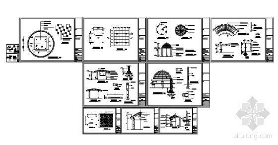 景观亭与花架详图-4