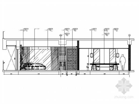 [三亚]度假酒店标准大床房样板房装修图立面图