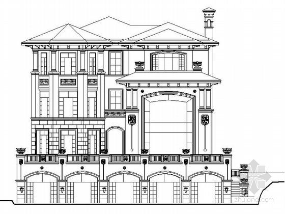 [深圳]3层欧式风格独栋别墅设计施工图(知名设计院)