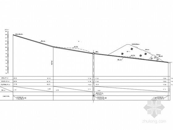 尾矿库初期坝工程量计算图及全套竣工图