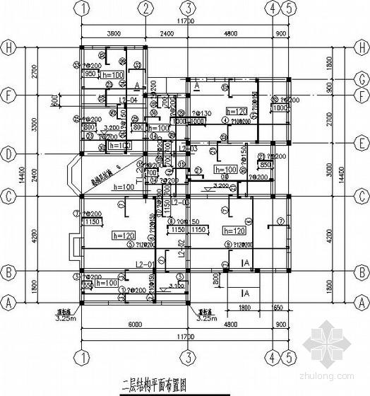 [北京]二层砖混别墅结构施工图(坡屋顶)