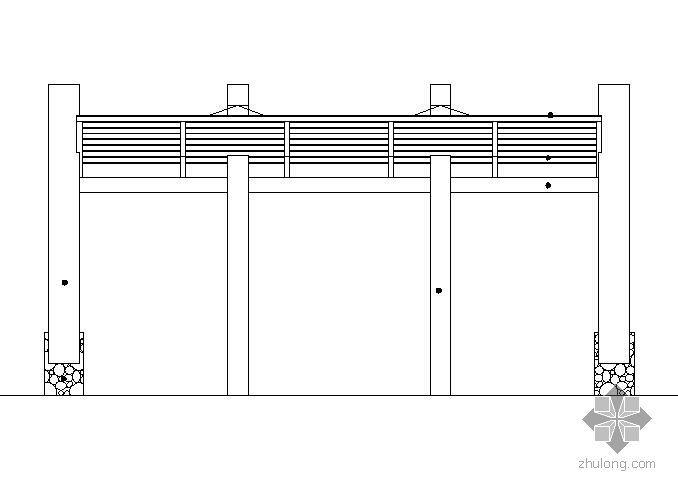 阳光板车棚施工图