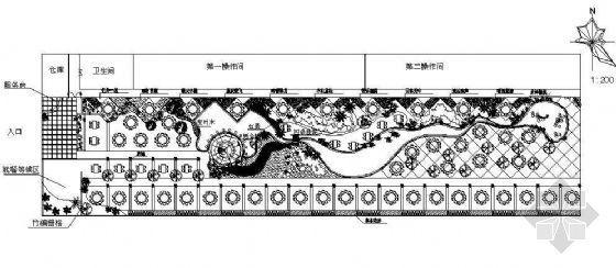 某生态园林饮食餐厅平面设计图