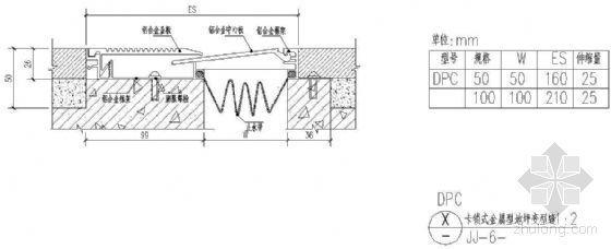 卡锁式金属型地坪变形缝(三)